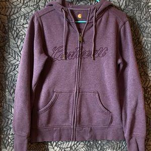 Women's Carhartt Purple Zip-up Hoodie